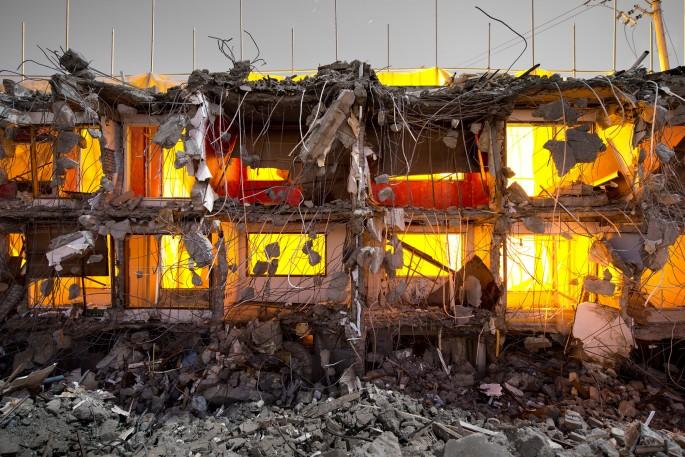 Jihyun Jung, </span><span><em>Demolition Site 14 Outside</em>, </span><span>2013 Courtesy of the artist