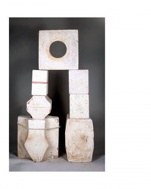 Jimmy Limit, </span><span><em>Plaster Mold Storage Variation 3 on Grey (Absorption, Anxiety, Archaeology, Balance, Collapse, Commerce, Distribution</em>, </span><span> Economy, Frustration, Growth, Mediation, Memory, Precarity, Production, Storage, Surplus, Translation)