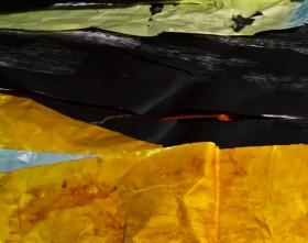 Susan Collacott, </span><span><em>Painted Paper Landform 3a</em>, </span><span>2015
