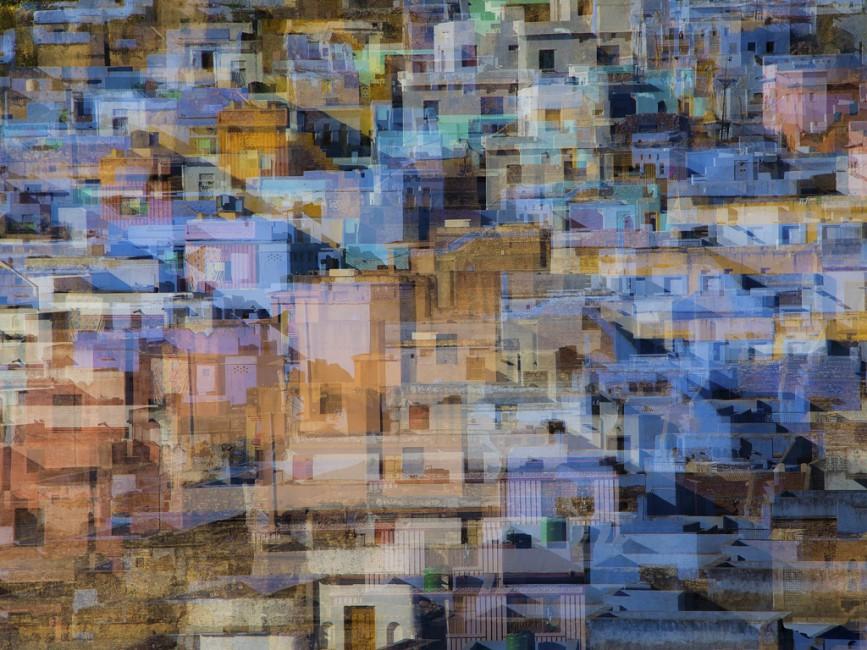 Pat Zuest, </span><span><em>Rajasthan Cityscape</em>, </span><span>2013