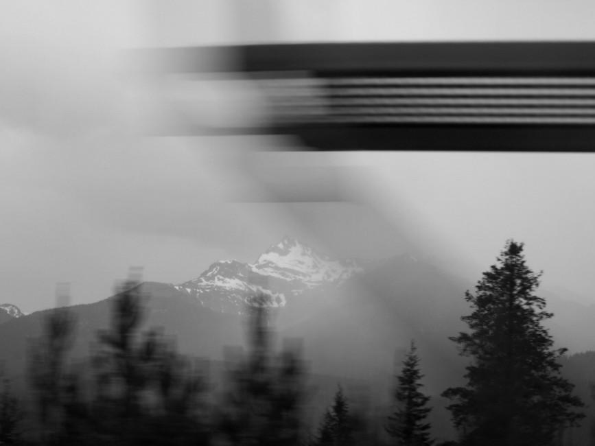 Juli Lyons, </span><span><em>Through the window mountain scene</em>, </span><span>2013