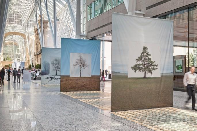 Installation view of Myoung Ho Lee's, </span><span><em>Tree</em>, </span><span> © Toni Hafkenscheid