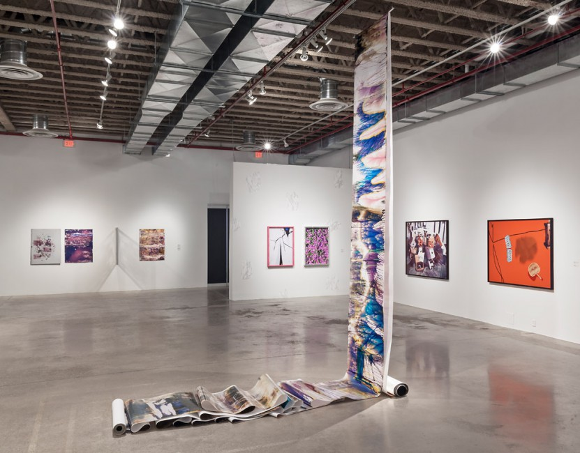 Installation view of, </span><span><em>Part Picture</em>, </span><span> (L to R: Foerster, Wiley, Robertson, Blalock). Photo: Toni Hafkenscheid
