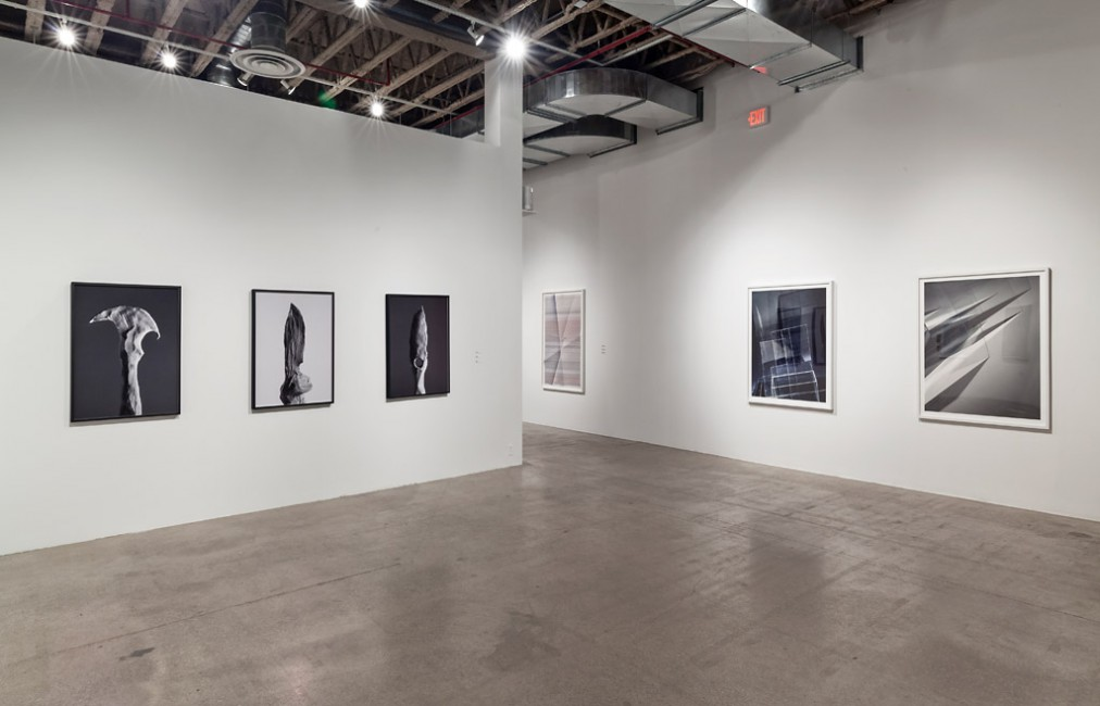 Installation view of, </span><span><em>Part Picture</em>, </span><span> (L to R: Shirreff, Houck, Kasten). Photo: Toni Hafkenscheid