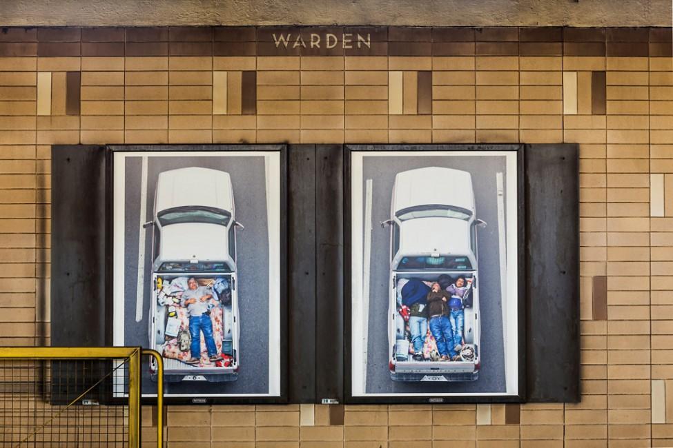 Installation view of Alejandro Cartagena's, </span><span><em>Carpoolers</em>, </span><span> © Toni Hafkenscheid