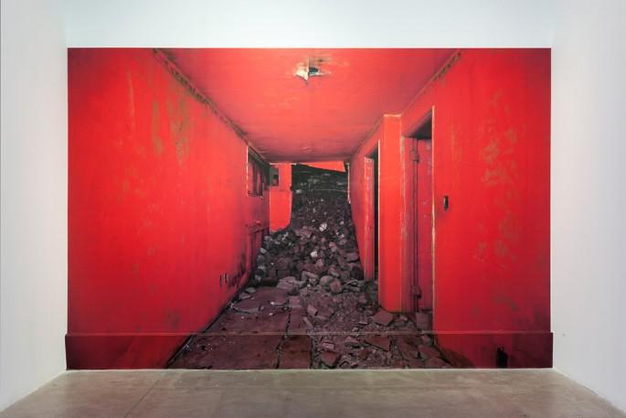 Installation view of Jihyun Jung's, </span><span><em>Demolition Site</em>, </span><span> © Toni Hafkenscheid