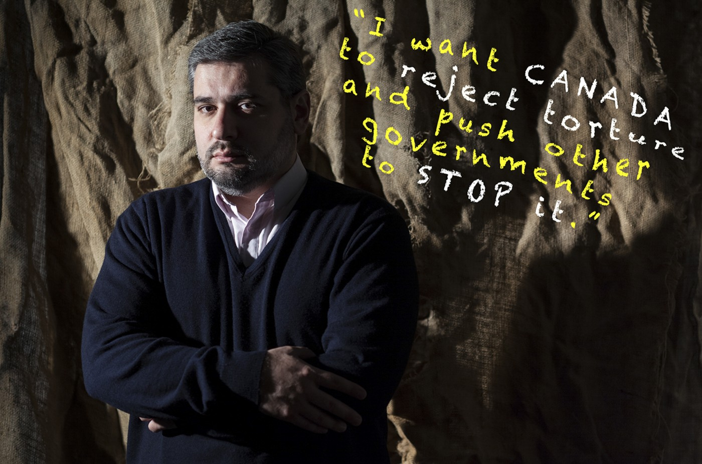 Eugen-Florin Zamfirescu, </span><span><em>Abdullah Almalki: &quot;I want Canada to stop torture and push other governments to stop it.&quot;</em>, </span><span>2015