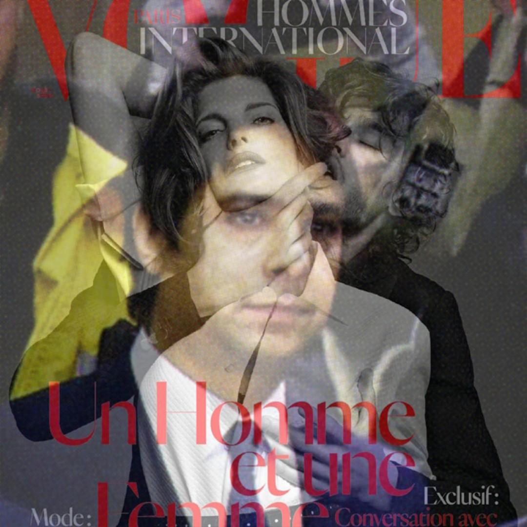 Gabrielle de Montmollin, </span><span><em>Ghomeshi-Vogue cover (lenticular print)</em>, </span><span>2015