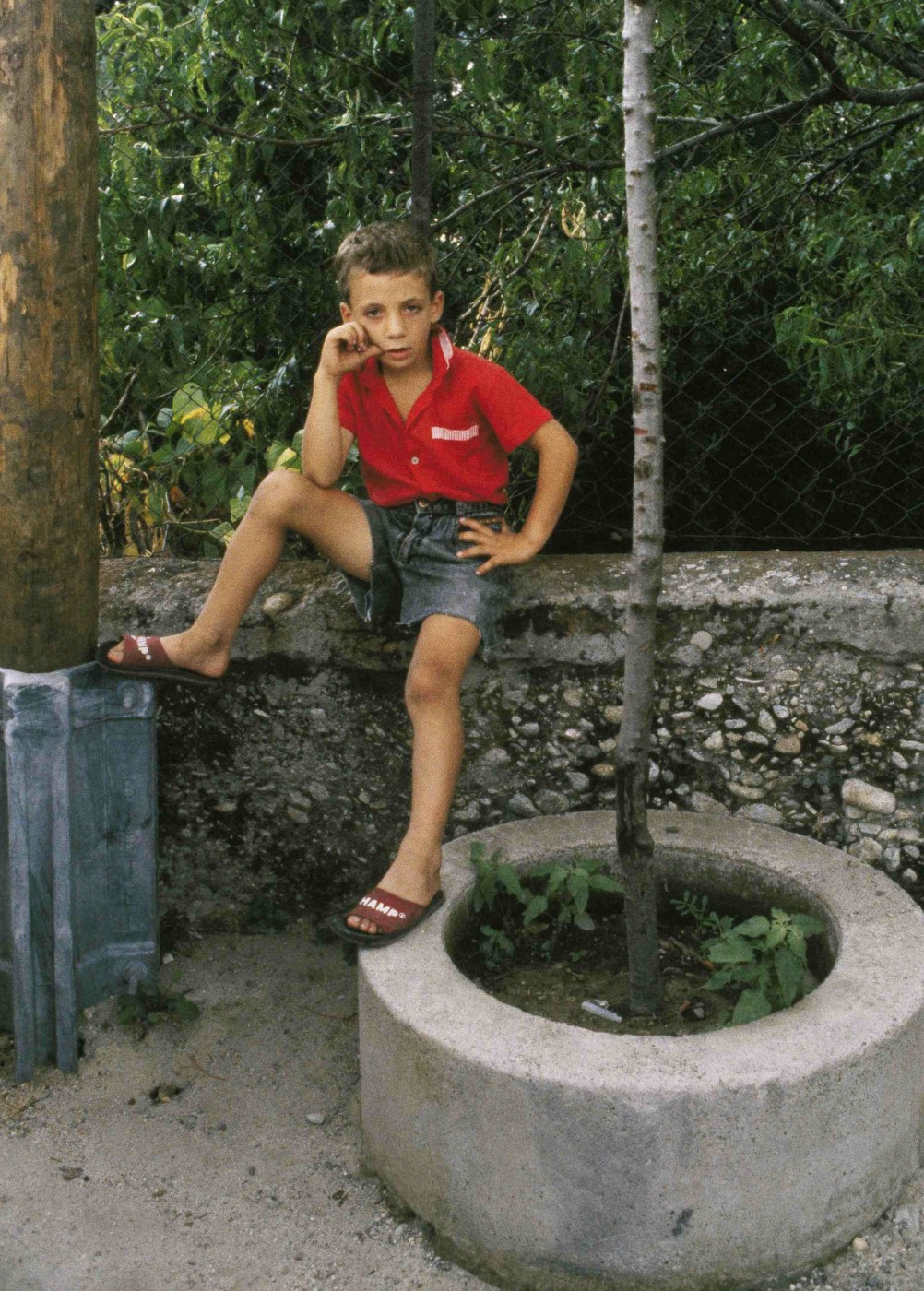 Bruno Mediati, </span><span><em>Boy in Red Shirt</em>, </span><span>1990