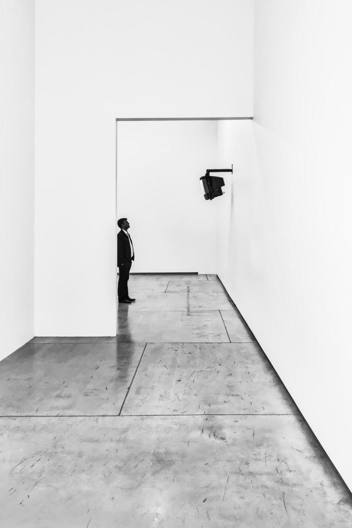 Marvin Cooper, </span><span><em>Man and Monitor</em>, </span><span>2015