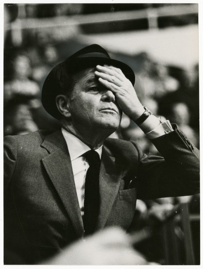 Fred Ross, </span><span><em>Jack Kent Cooke, sports team owner</em>, </span><span>1967. Gelatin silver print, 9 x 7&quot;. Gift of The Globe and Mail newspaper to the Canadian Photography Institute of the National Gallery of Canada.