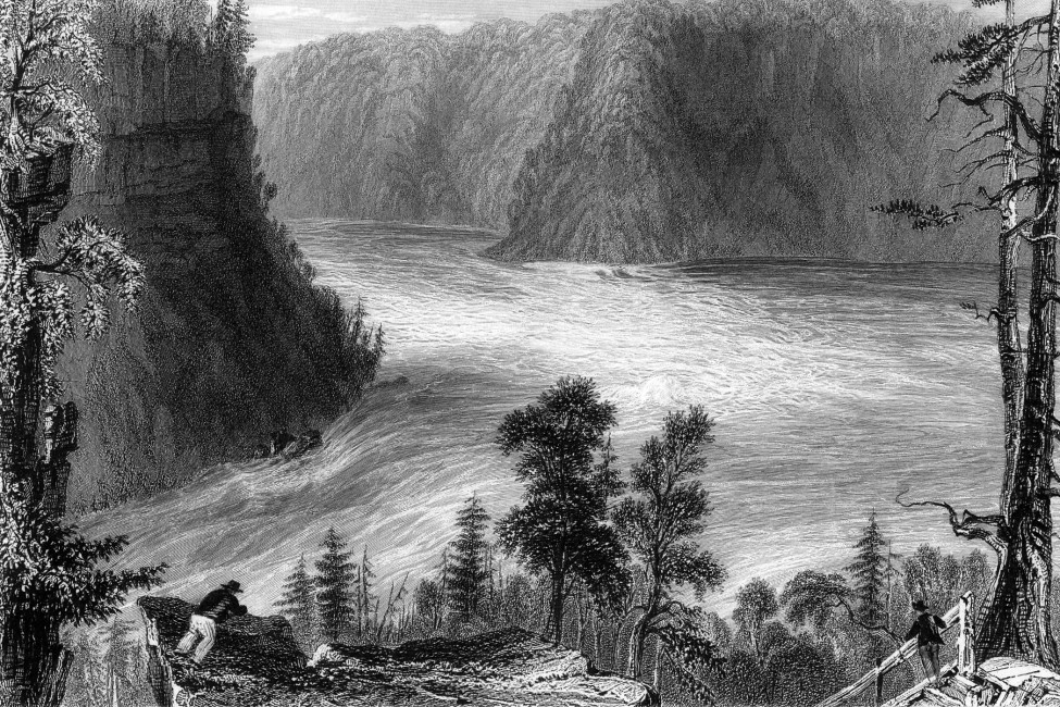 William Bartlett, </span><span><em>The Whirlpool</em>, </span><span>1842 steel engraving based on 1838 in-situ rendering