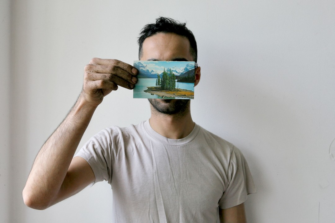 Photo credit: Manolo Lugo, image courtesy of the artist, 2.Basil AlZeri, #7 from The Postcard Project II, digital photograph, 4 x 6 inches, 2015