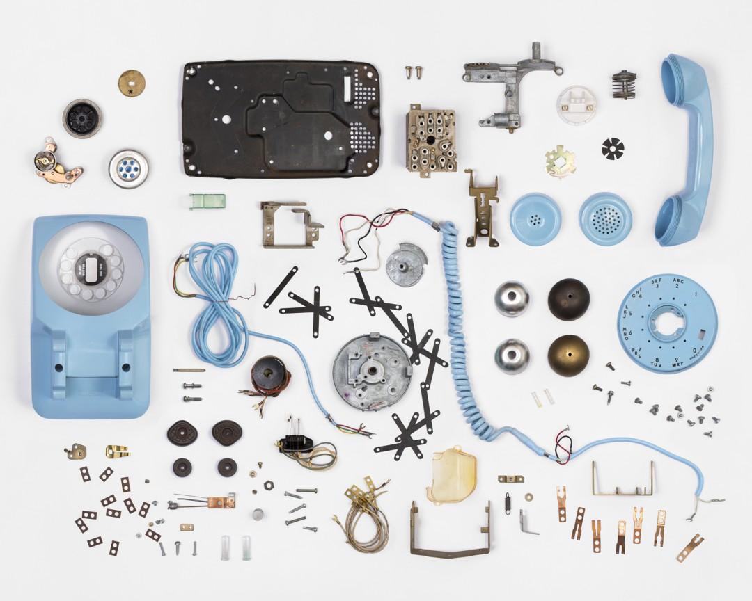 """Christian Patterson, Telephone Deconstruction #1, 2014. Archival pigment print, 32 x 40""""."""