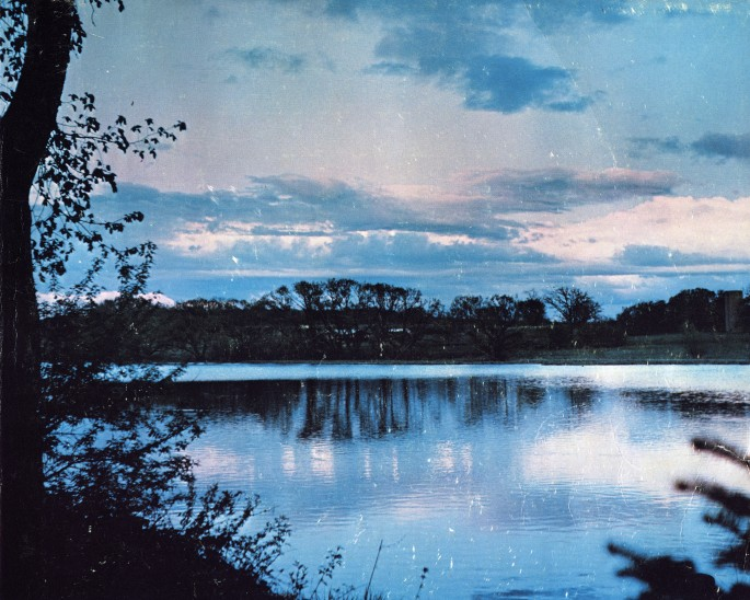 "Christian Patterson, </span><span><em>Fond du Lac (Blue Lake)</em>, </span><span>2013. Archival pigment print, 32 x 40""."