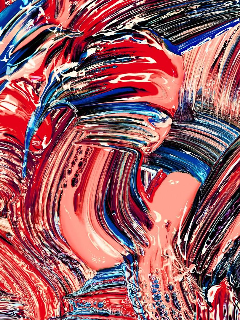 Jill Greenberg, 160128 Painting 0631, 2016. Archival Pigment Print, 77 x 58. Courtesy of Bau-Xi Photo.