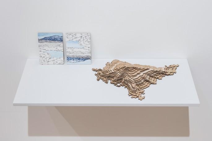 Installation view of Josée Pedneault, </span><span><em>Nævus</em>, </span><span>Photo: Toni Hafkensheid