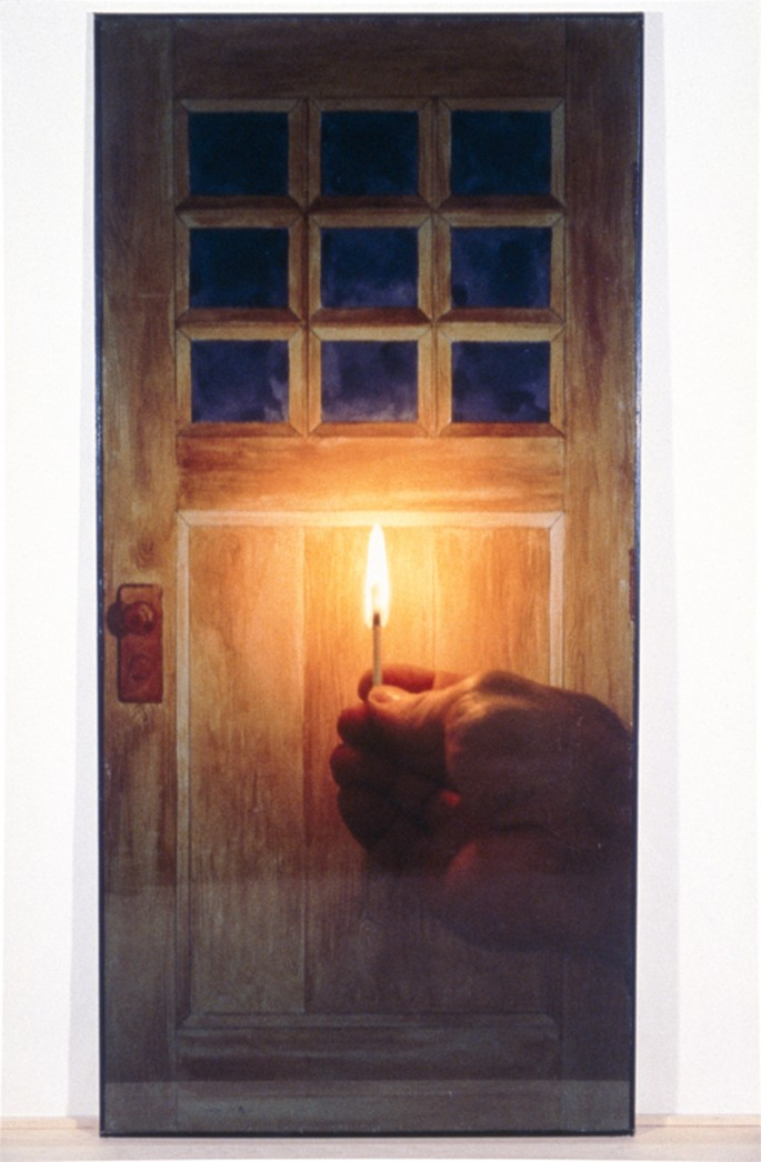 Michael Snow, </span><span><em>Door</em>, </span><span>1979. Colour photograph, 90.2 x 46.9 x 5.9&quot;. Courtesy of the artist. The Bailey collection.