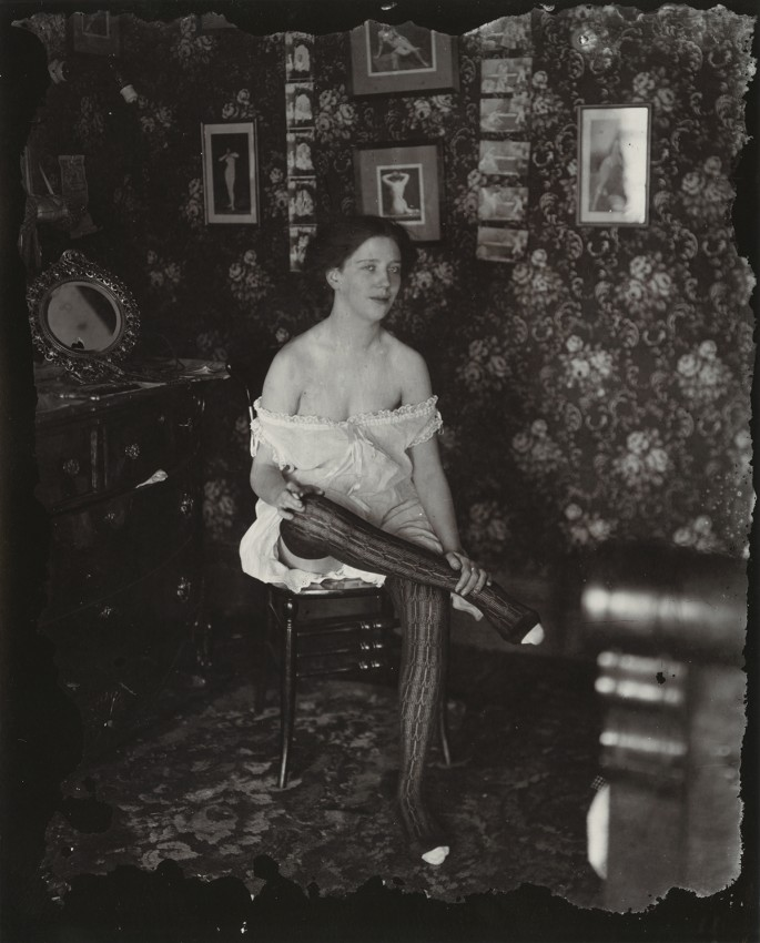 E. J. Bellocq, </span><span><em>Storyville Portrait</em>, </span><span>ca. 1912. 16 x 14&quot; framed. Image by E.J. Belloc © Lee Friedlander, courtesy Fraenkel Gallery, San Francisco. Collection of Carole and Howard Tanenbaum.