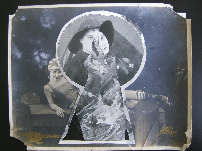 "Guy Maddin, </span><span><em>Keyhole</em>, </span><span>2007. Collage, 8 x 11"". Courtesy of the artist and Lisa Kehler Art + Projects."