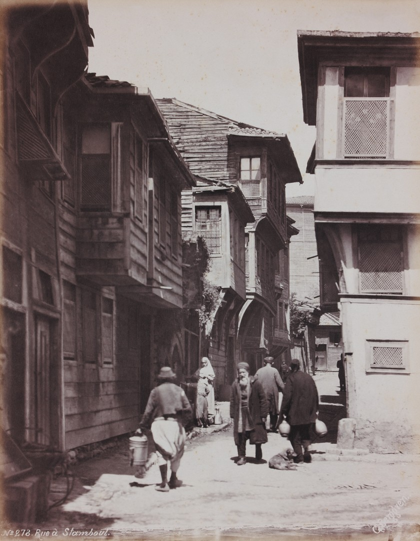 Guillaume Berggren, Wooden Houses, c. 1885. Collodion print. Courtesy of the Ömer M. Koç, private collection.