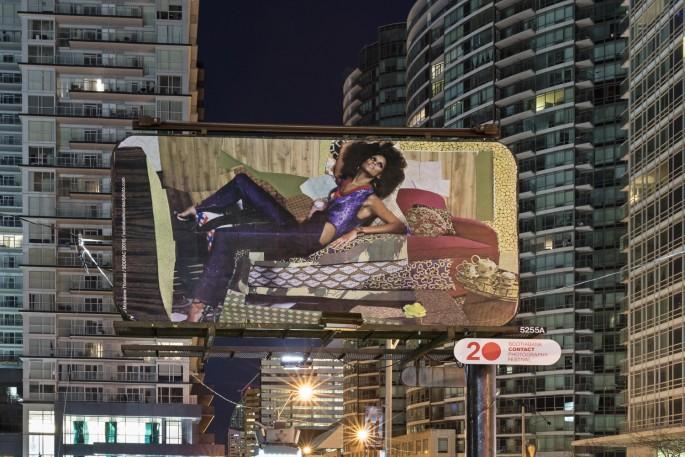 Installation view of Mickalene Thomas, </span><span><em>What it Means to be Beautiful</em>, </span><span>(Toronto). Photo: Toni Hafkenscheid
