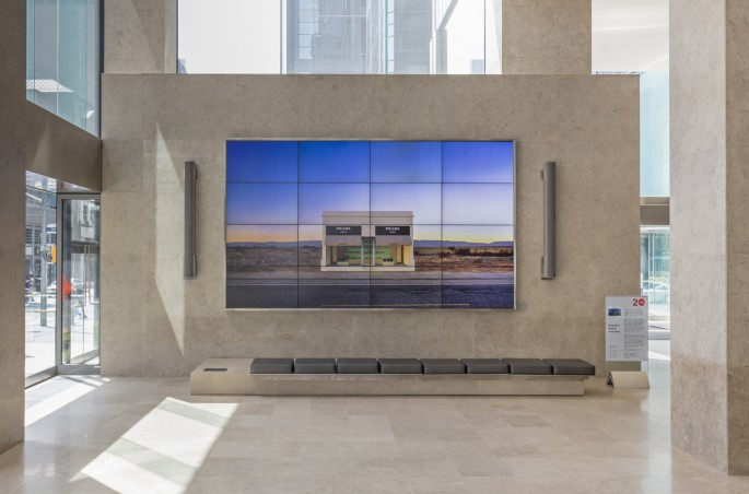 Installation view of Elmgreen &amp; Dragset, </span><span><em>Prada Marfa</em>, </span><span>Photo: Toni Hafkenscheid