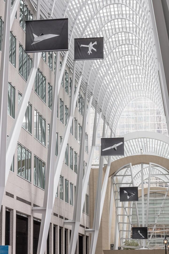 Installation view of Sjoerd Knibbeler's, Paper Planes, Photo: Toni Hafkenscheid