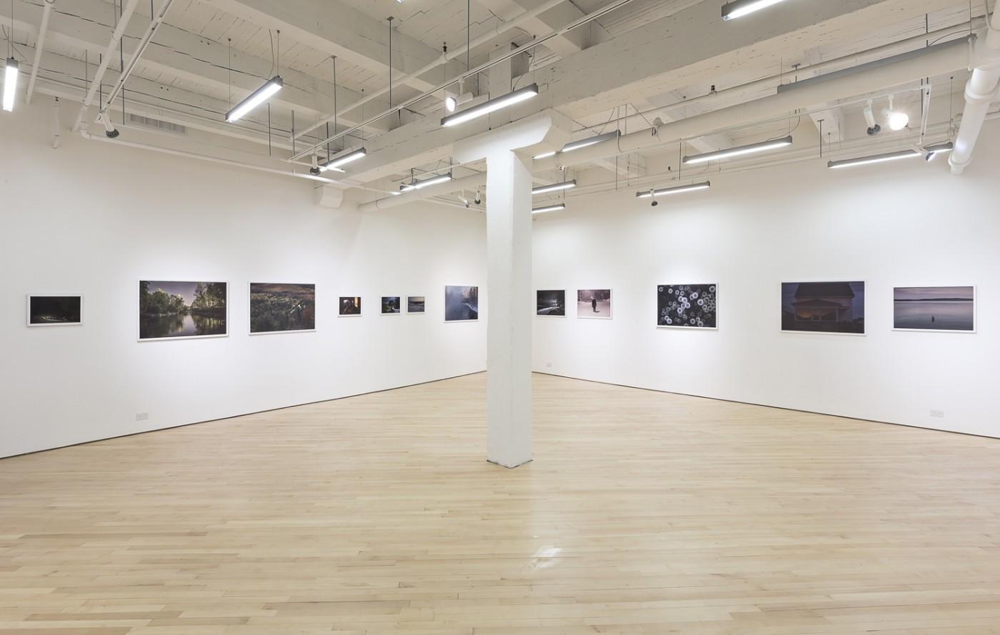Installation view of Michel Hunealt, </span><span><em>La longue nuit de Mégantic</em>, </span><span>Photo: Toni Hafkenscheid