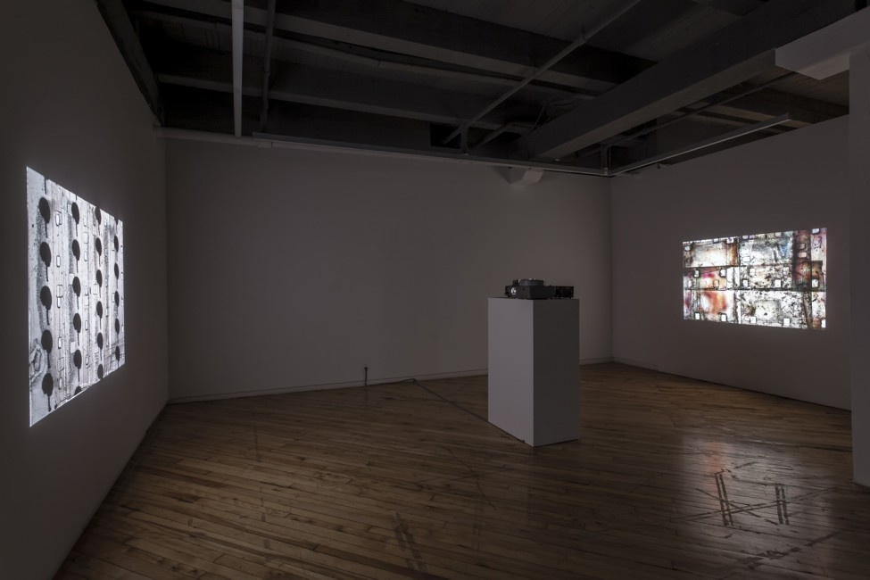 Installation view of Luther Price, </span><span><em>Number 9 and Number 9 II</em>, </span><span>2012