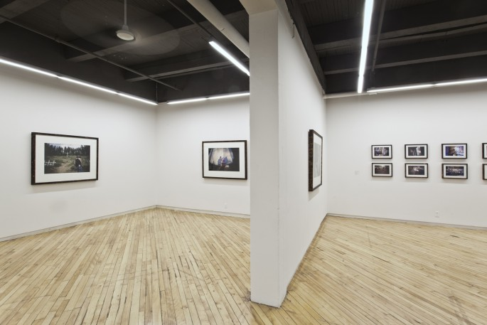 Installation view of Jonathan Taggart, </span><span><em>The Friction of Distance: The Lillooet River Valley</em>, </span><span>2012.