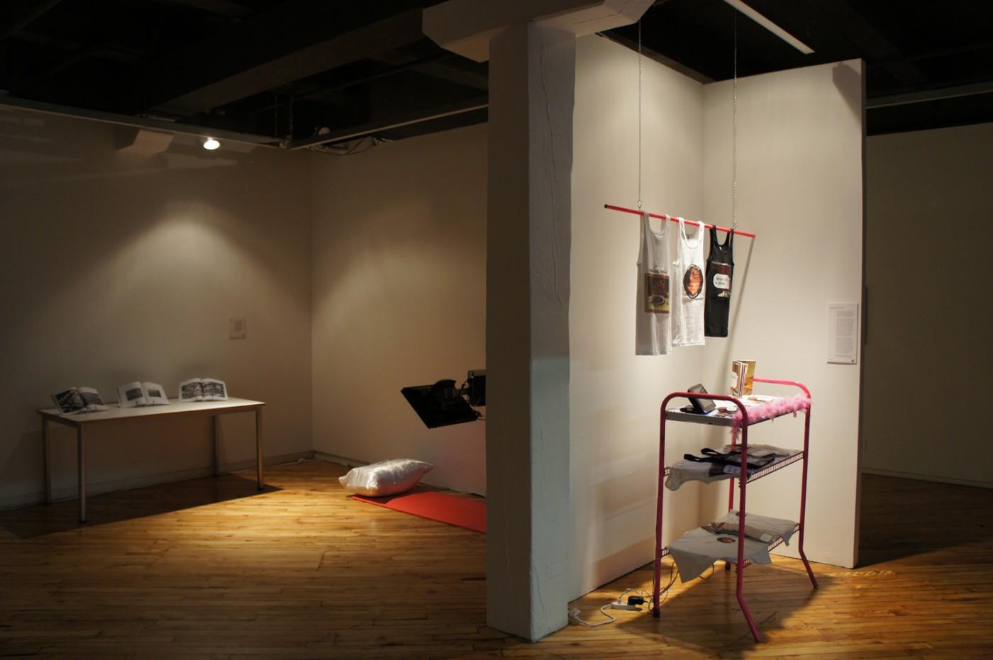 Installation view of , </span><span><em>Medium_Massage 2.0 :: an infinite inventory</em>, </span><span>2011