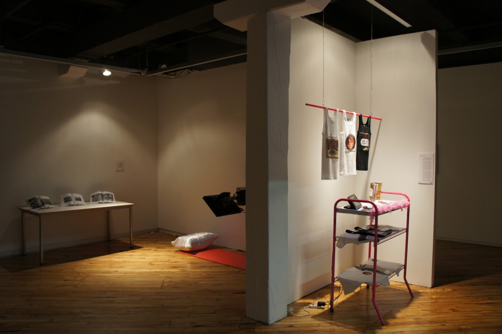 Installation view of , </span><span><em>Medium_Massage 2.0 :: an infinite inventory</em>, </span><span>2011