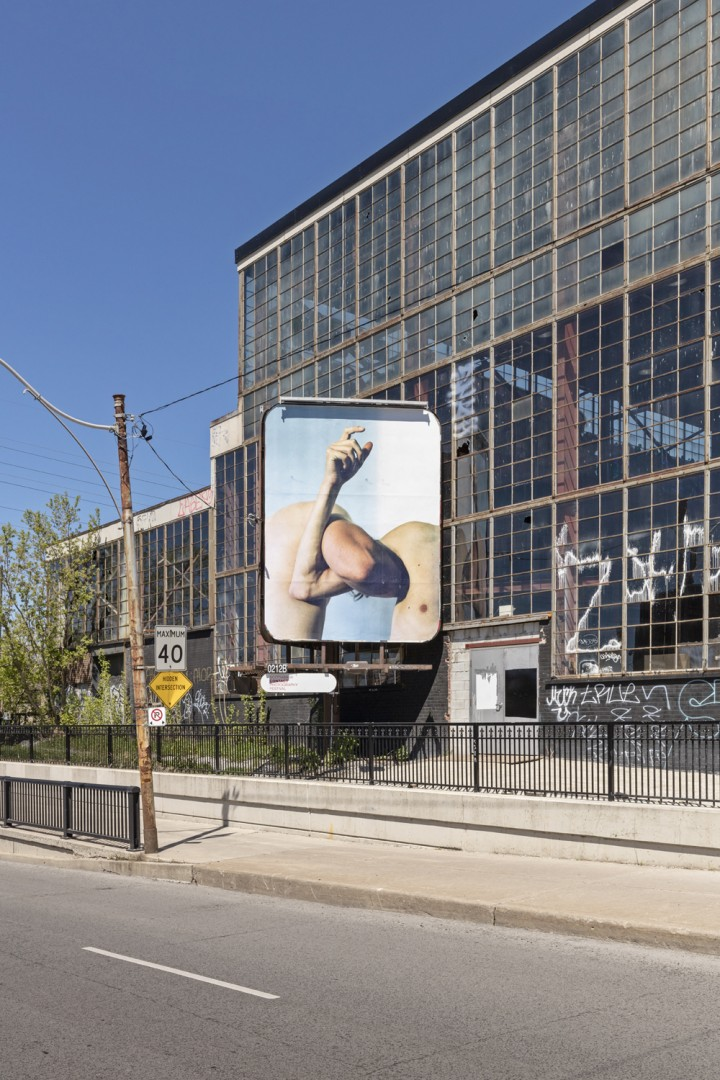 Steven Beckly, </span><span><em>New Romantics</em>, </span><span>installation view of 4 billboards at Dovercourt Rd and Dupont St. 2017. Photo by Toni Hafkenscheid.