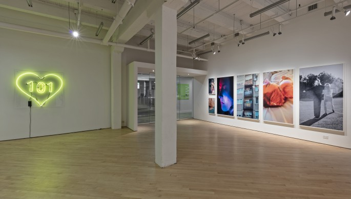 Installation view of Petra Collins, </span><span><em>Pacifier</em>, </span><span>photo by Toni Hafkenscheid.