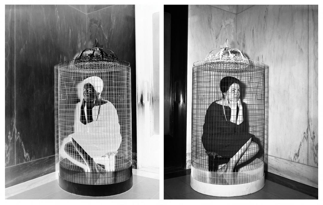 "Bird Cage, 2016. Archival Pigment Prints, 30x40""."
