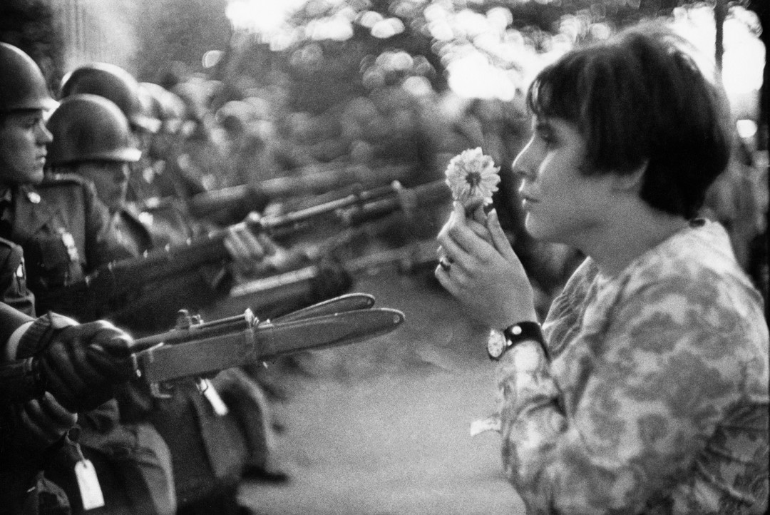 Peace march against the Vietnam War, 1967.