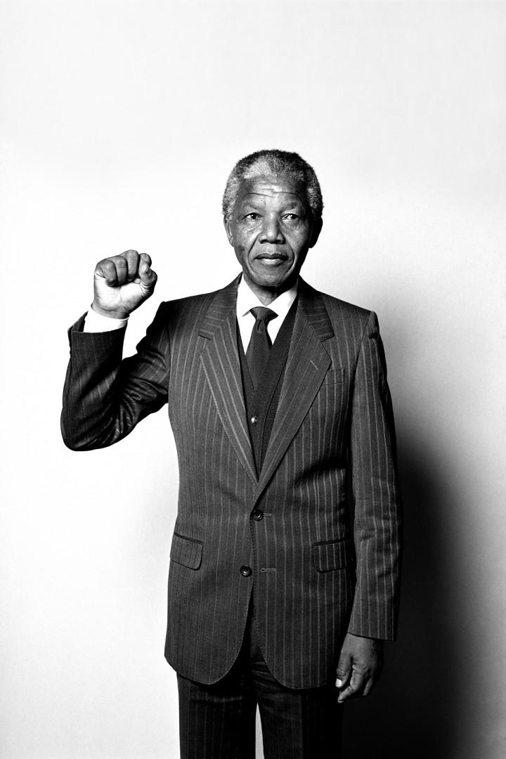 Hans Gedda, Nelson Mandela, 1990.