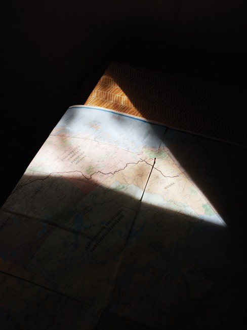 Alexis MacDonald, </span><span><em>Road Map</em>, </span><span>2014. Chromogenic print, dimensions variable.