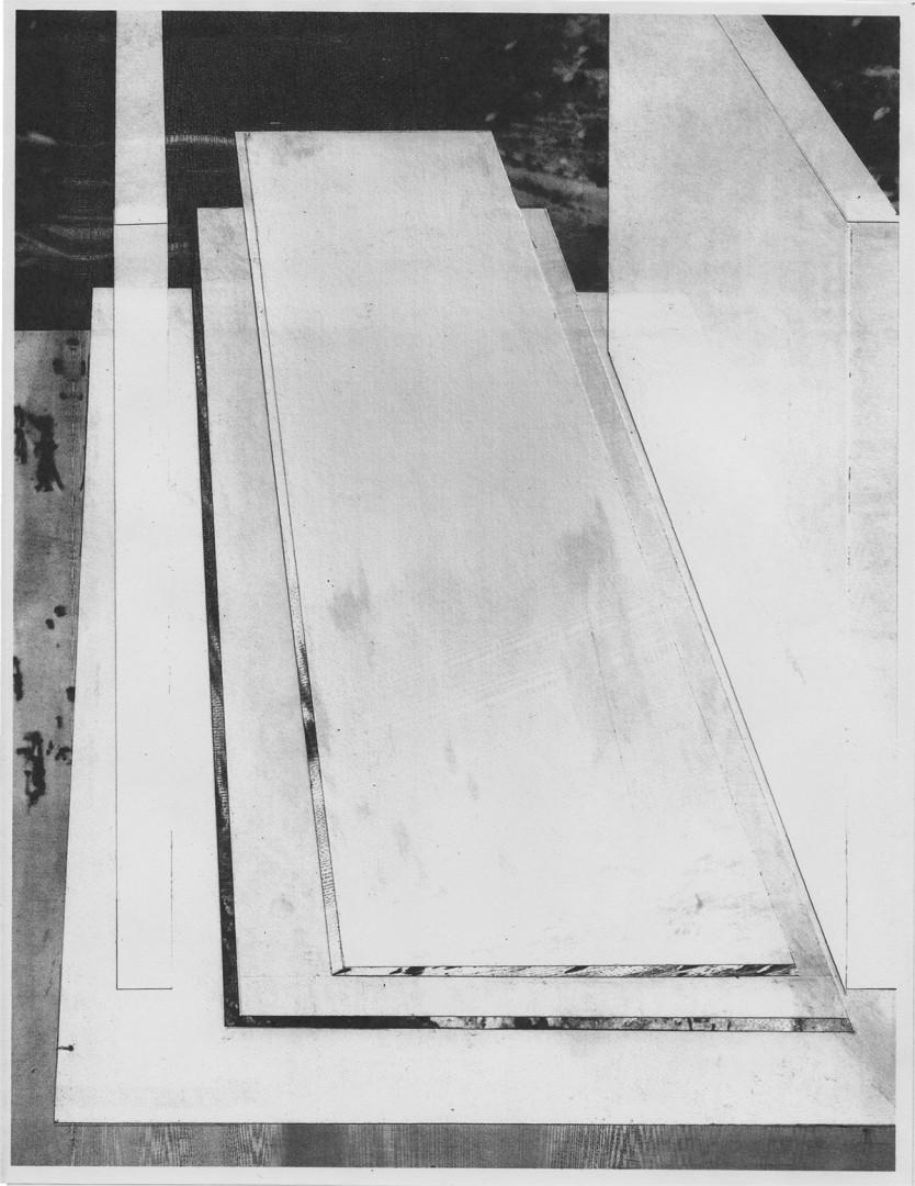 Derek Coulombe , Slab-Lodge, 2013. Archival pigment print, 16x22