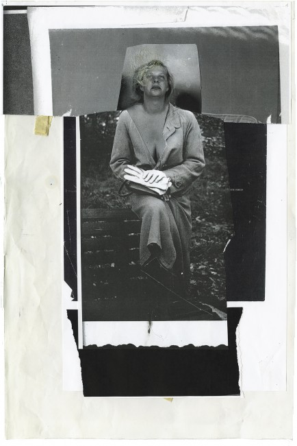 Angela Grossmann, </span><span><em>Gloves</em>, </span><span>2015. Mixed-media including human hair, 14x20&quot;.