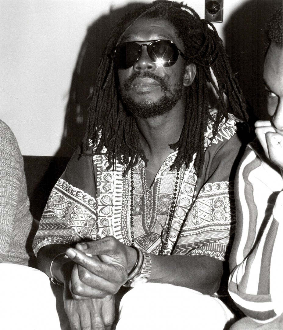 Diane Liverpool, Peter Tosh at O'Keefe Centre, 1981. Silver gelatin print, 8x10. © Diane Liverpool.