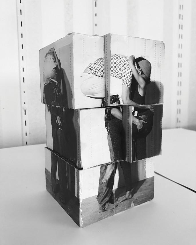 Valérie Blass, </span><span><em>Étude Préliminaire, Maquette, One Piece Mohair</em>, </span><span>2017. Courtesy of Catriona Jeffries Gallery, Vancouver.