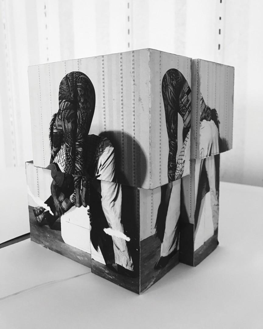 Valérie Blass, </span><span><em>Étude Préliminaire, Maquette, Bleached Jeans</em>, </span><span>2017. Courtesy of Catriona Jeffries Gallery, Vancouver.