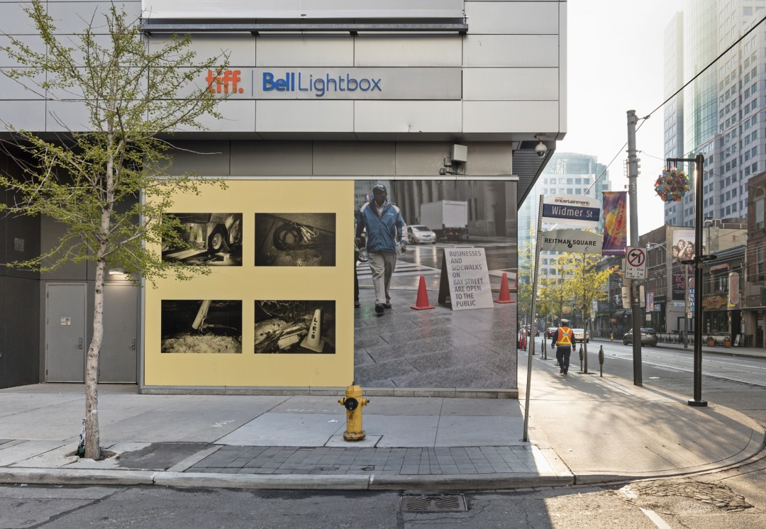 Sam Cotter, </span><span><em>On Location</em>, </span><span>Installation view at TIFF Bell Lightbox , 2017. Photo by Toni Hafkenscheid.