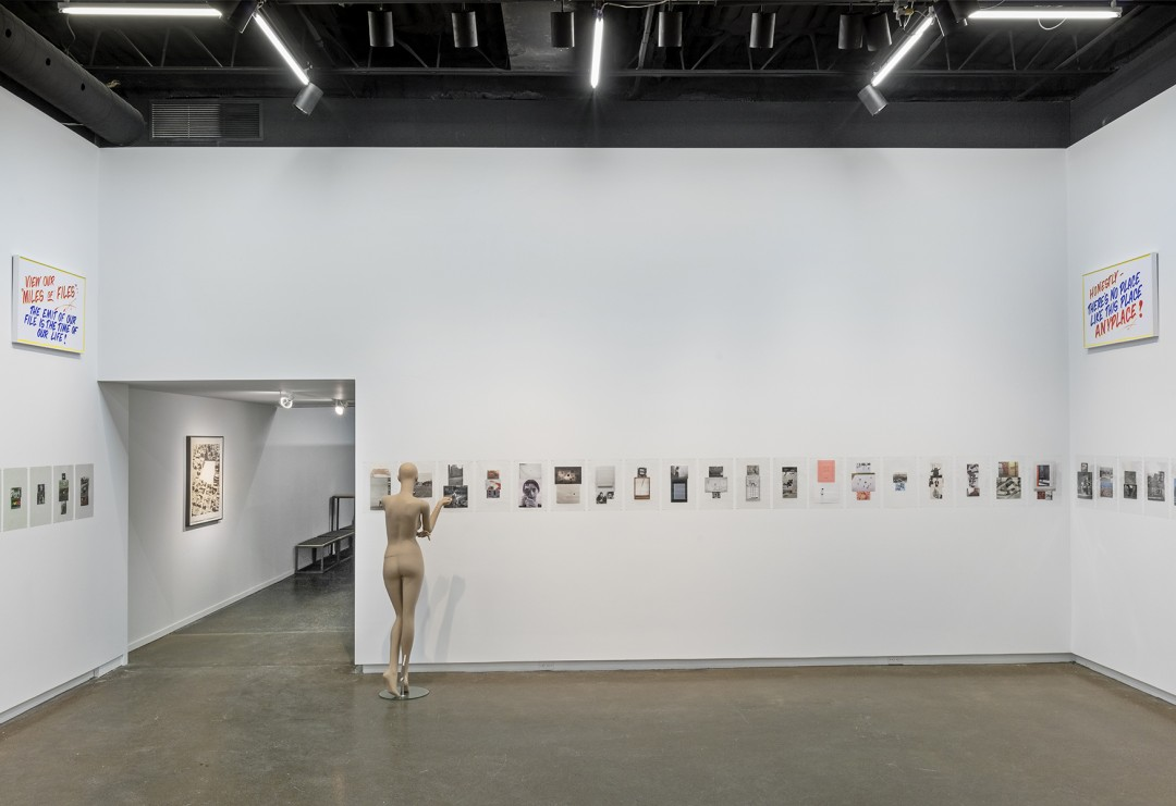 Installation view of Luis Jacob, Habitat, photo by Toni Hafkenscheid.
