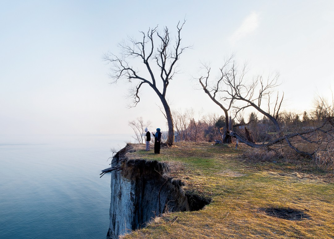 Robert Burley, Scarborough Bluffs Park, 2014. Courtesy of the Stephen Bulger Gallery