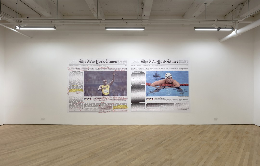 Installation view of, </span><span><em>An unassailable and monumental dignity</em>, </span><span>CONTACT Gallery, Sept - Nov 2017.Photo by Toni Hafkenscheid.
