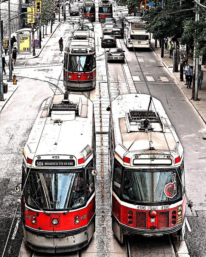 Roberto Riveros, </span><span><em>Streetcar Overpass</em>, </span><span>2015
