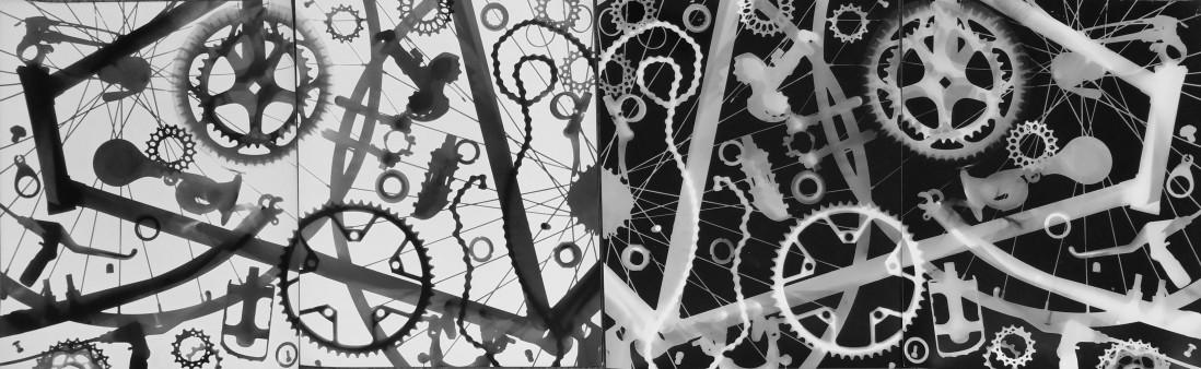 Burke Paterson, </span><span><em>Bicycle Diptych</em>, </span><span>2015-2018